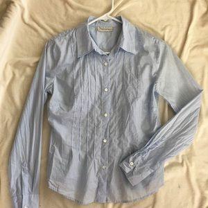 Light blue thin cotton button tacked shirts MP